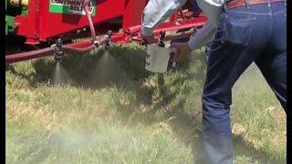 How To Calibrate An Herbicide Boom Sprayer